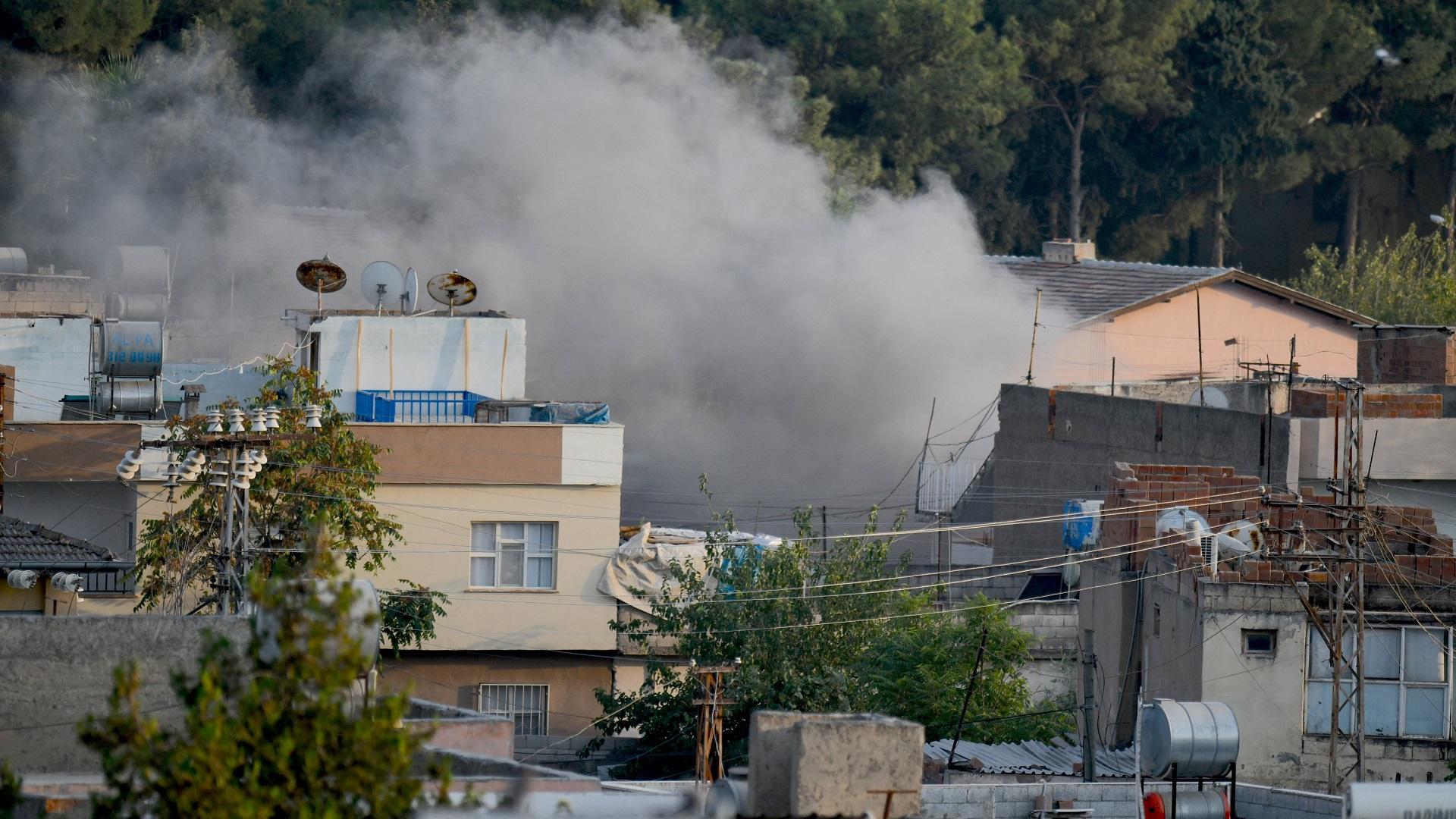 Ataque a asentamientos civiles turcos de las YPG. Foto de @tcsavunma