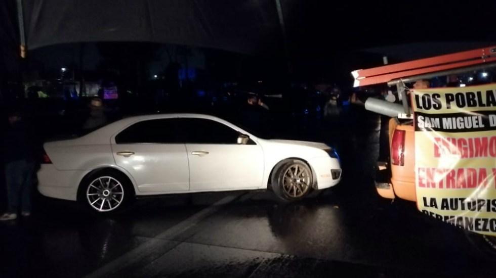 Pobladores levantan bloqueo en la autopista México-Querétaro tras siete horas