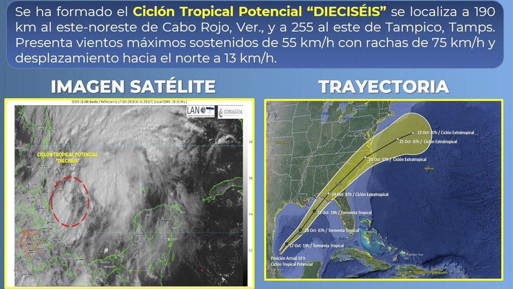 Se forma Ciclón Tropical en el Golfo de México