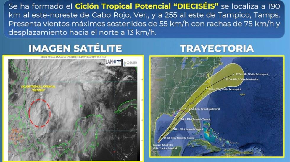 Se forma Ciclón Tropical en el Golfo de México - Se forma Ciclón Tropical en el Golfo de México