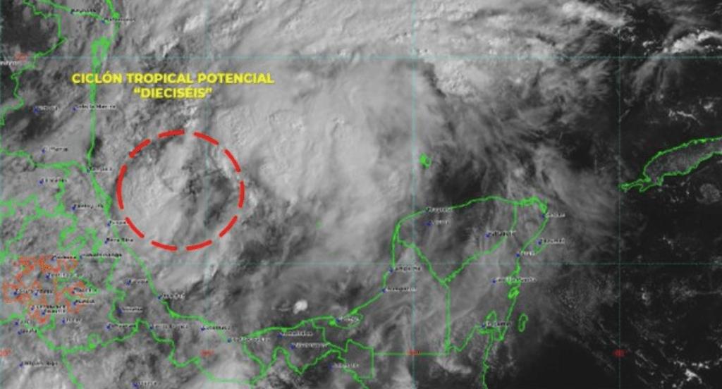 Activan Alerta Verde por ciclón tropical en el Golfo de México - Foto de Conagua Clima
