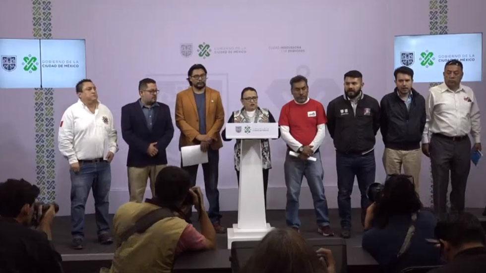 Conferencia Segob CDMX y taxistas. Captura de pantalla