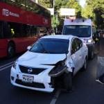 Automovilista atropella a cuatro personas sobre Paseo de la Reforma