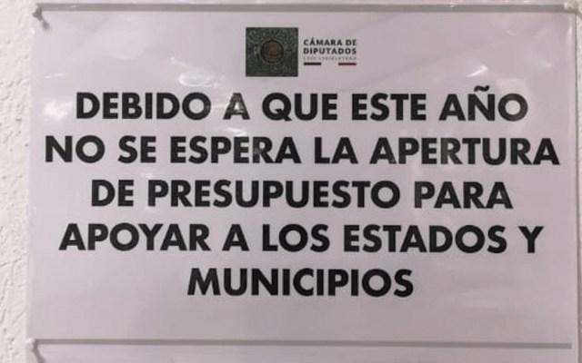 Comisión de Federalismo cierra ventanilla de recepción de proyectos por desaparición de Ramo 23