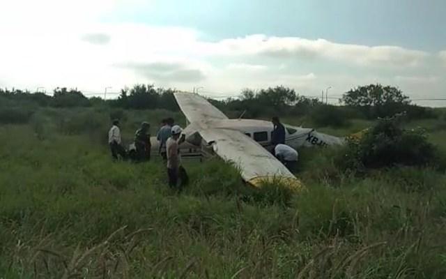 Se desploma avión pequeño en Apodaca, Nuevo León - Despiste de avioneta en Apodaca. Foto de @marychuyglez