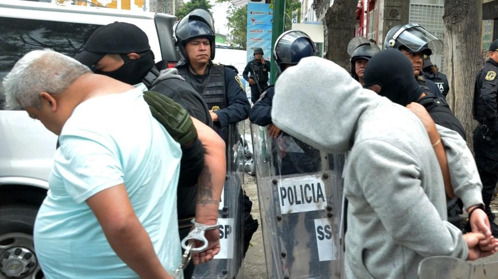 Van a proceso cuatro de los detenidos en Tepito: PGJ capitalina - Detenidos en Tepito. Foto de EFE López Obrador