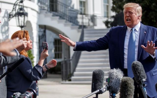 Segundo agente ofrecerá información sobre presiones de Trump a Ucrania - Donald Trump en conferencia de prensa desde la Casa Blanca. Foto de EFE