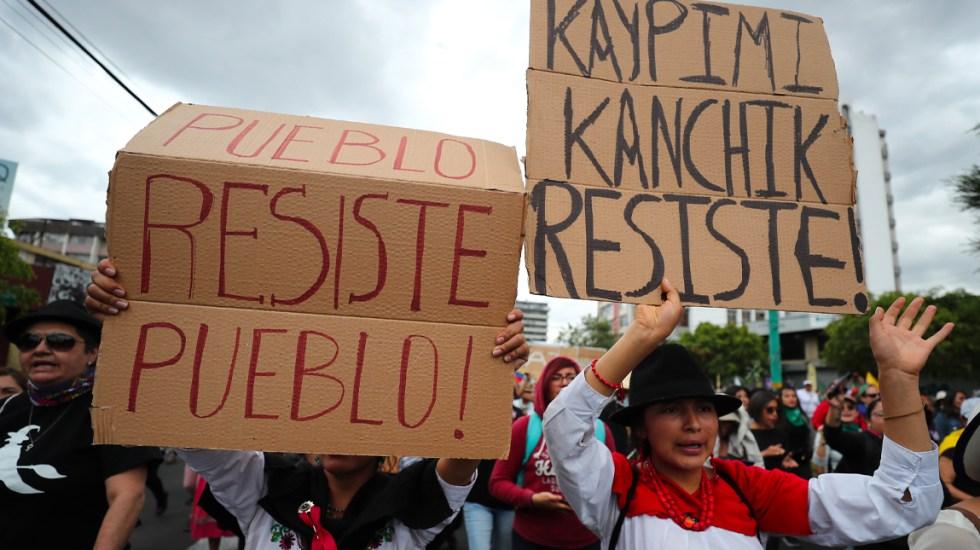 Movimiento indígena de Ecuador acepta diálogo con el presidente Moreno - Movimiento indígena de Ecuador
