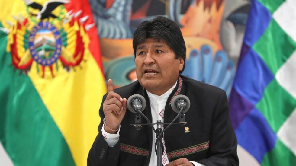 Evo Morales renuncia a la presidencia de Bolivia - El presidente de Bolivia, Evo Morales, en una comparecencia hoy miércoles ante los medios en La Paz tras dos días de protestas en el país por la sospecha de un fraude electoral a su favor. Foto de EFE/Martin Alipaz