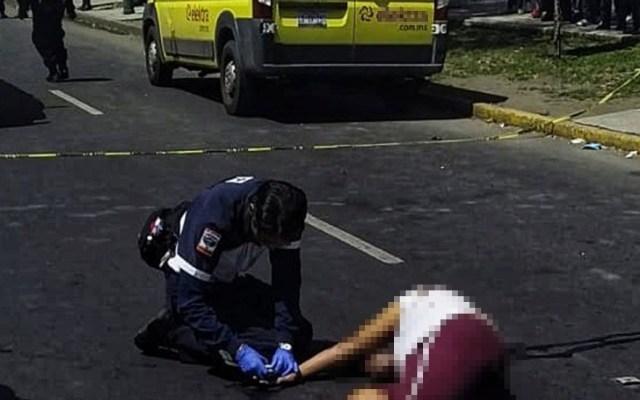 Sujeto abatido en intento de asalto en Iztacalco era exreo - Exreo que murió en intento de asalto a camioneta de Elektra. Foto de @JerrxG13