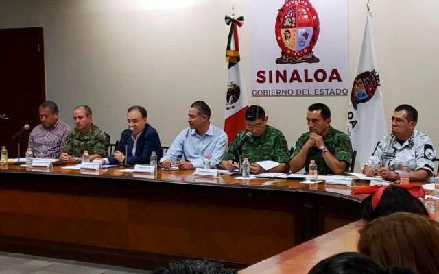 Admite Gabinete de Seguridad precipitación y falta de planeación durante operativo en Culiacán - Gabinete de Seguridad Federal con autoridades de Sinaloa, por balaceras en Culiacán. Foto de Notimex