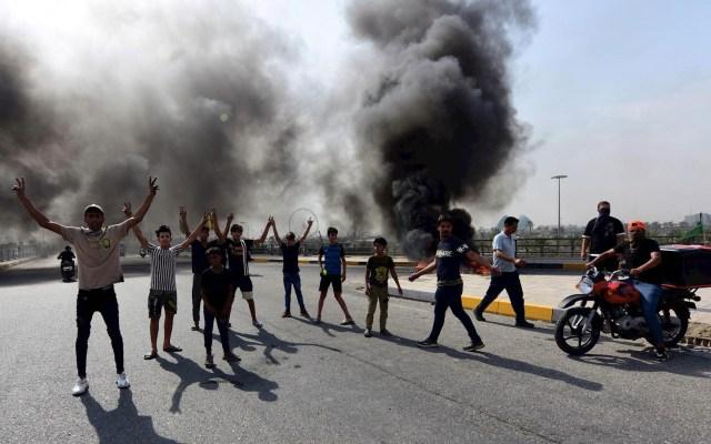 Segundo día de protestas en Irak deja cinco muertos - Irak protestas manifestación