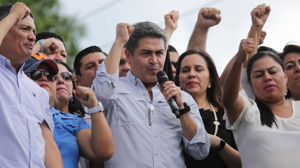 """Presidente de Honduras asegura a opositores que """"no pasarán"""" - Juan Orlando Hernández Honduras"""