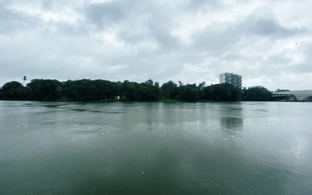 Lluvias dejan encharcamientos y laguna desbordada en Tabasco - Así luce la Laguna de las Ilusiones tras las lluvias de los últimos días. Foto de @ArturoAbreu_