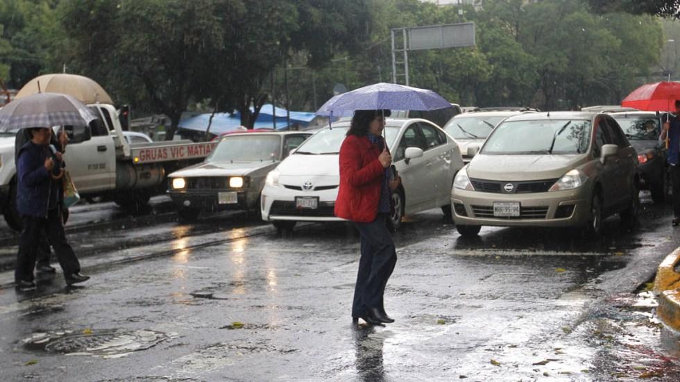Próximos tres días serán de lluvias aisladas en el Valle de México - Lluvias Ciudad de México tormentas 22102019