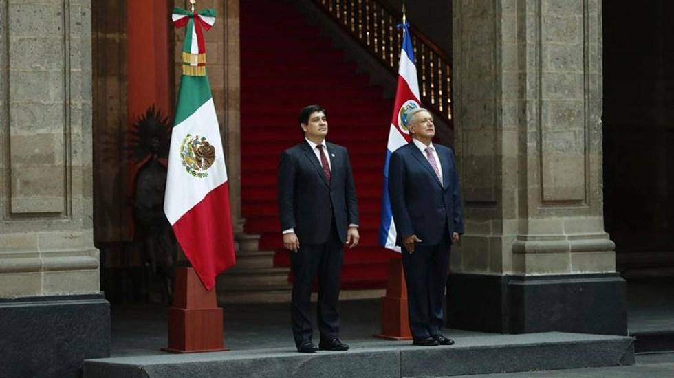 López Obrador recibe al presidente de Costa Rica en Palacio Nacional - López Obrador recibe al presidente de Costa Rica en Palacio Nacional