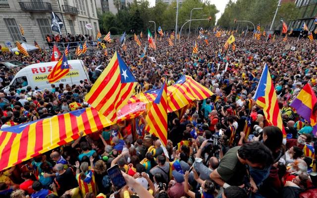 Manifestación independentista de Barcelona reúne medio millón de personas - Manifestación en Barcelona