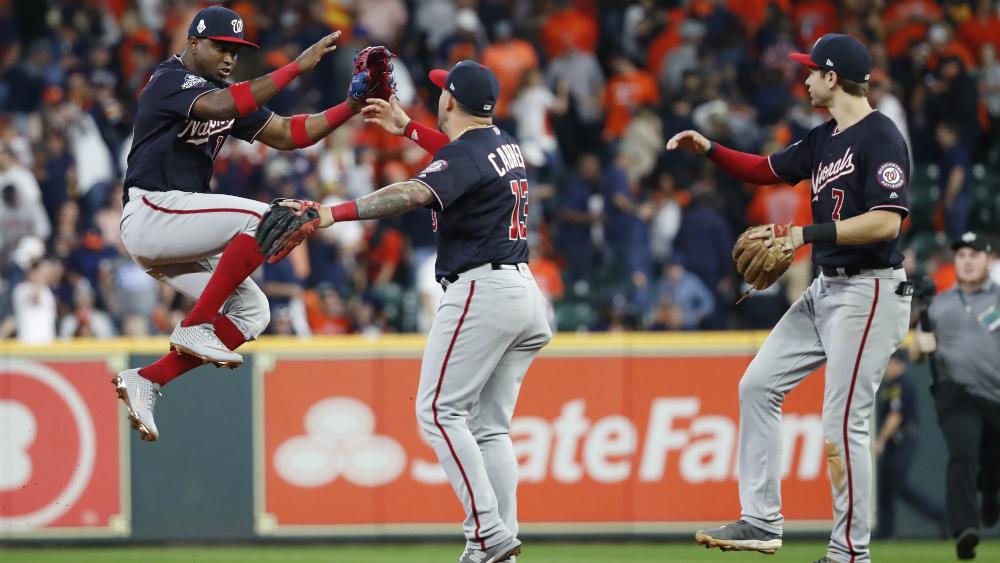 Nacionales ganan en Houston y obligan al séptimo juego - nacionales