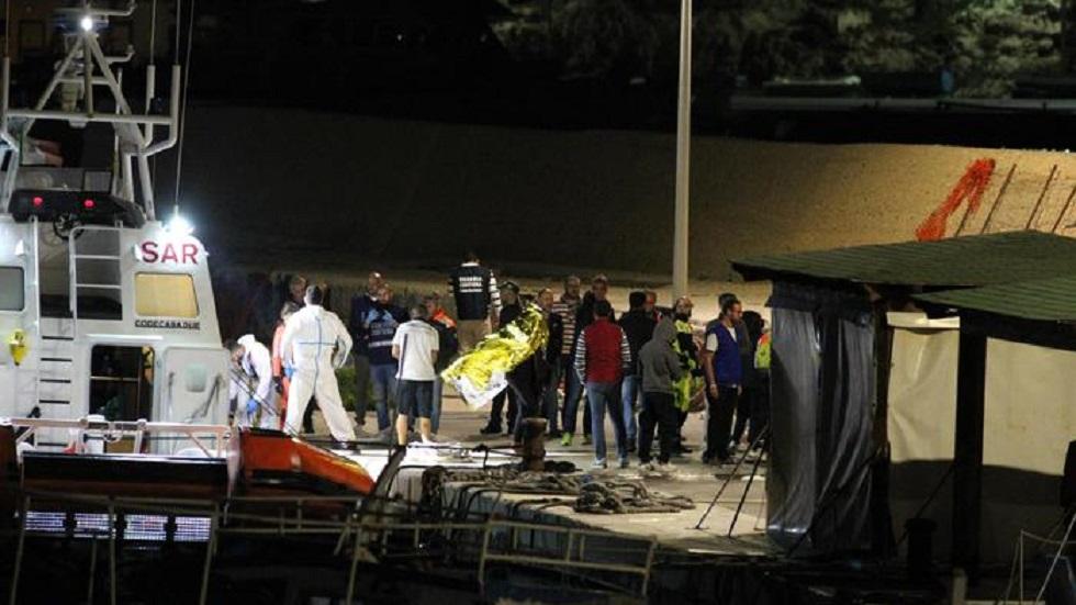 Localizan cuerpos de 12 migrantes cerca de costa italiana - Rescate de migrantes que el pasado 7 de octubre naufragaron en Lampedusa. Foto de Ansa