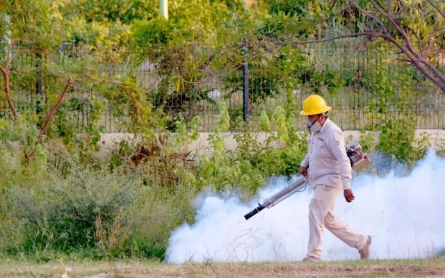 Adjudican aumento del dengue en Tabasco a periodos cíclicos - Nebulización del mosquito que causa el dengue en Tabasco. Foto de @SSalud_Tab