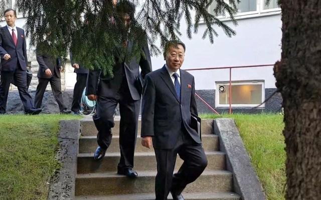 Corea del Norte desaira nueva reunión con EE.UU. por 'política hostil' - Negociador de Corea del Norte, Myong Gil. Foto de EFE