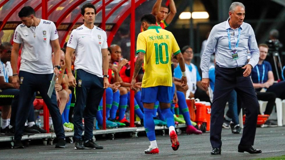 Brasil enfrentará partidos amistosos sin Neymar - Neymar sufrió una lesión durante el amistoso contra Nigeria