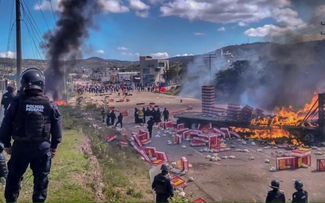 Pobladores de Nochixtlán piden a López Obrador justicia por represión de 2016 - Enfrentamiento en Nochixtlán