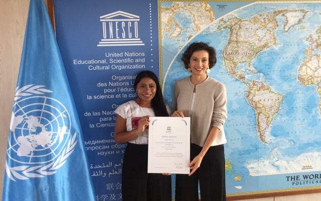 Yalitza Aparicio inicia actividades como embajadora de la Unesco - Nombramiento de Yalitza Aparicio como embajadora de la Unesco. Foto de @DelegamexUNESCO