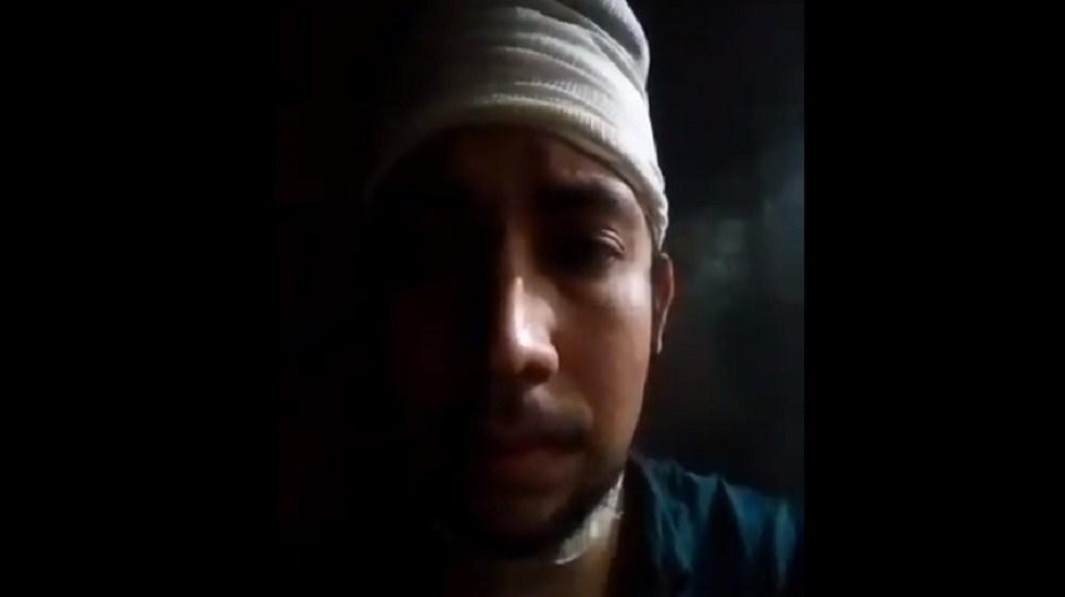 Liberan a vecino de Tlatelolco que desarmó a asaltantes y los baleó - Omar, vecino de Tlatelolco que desarmó a asaltantes y los baleó. Captura de pantalla / @TlatelolcoTV