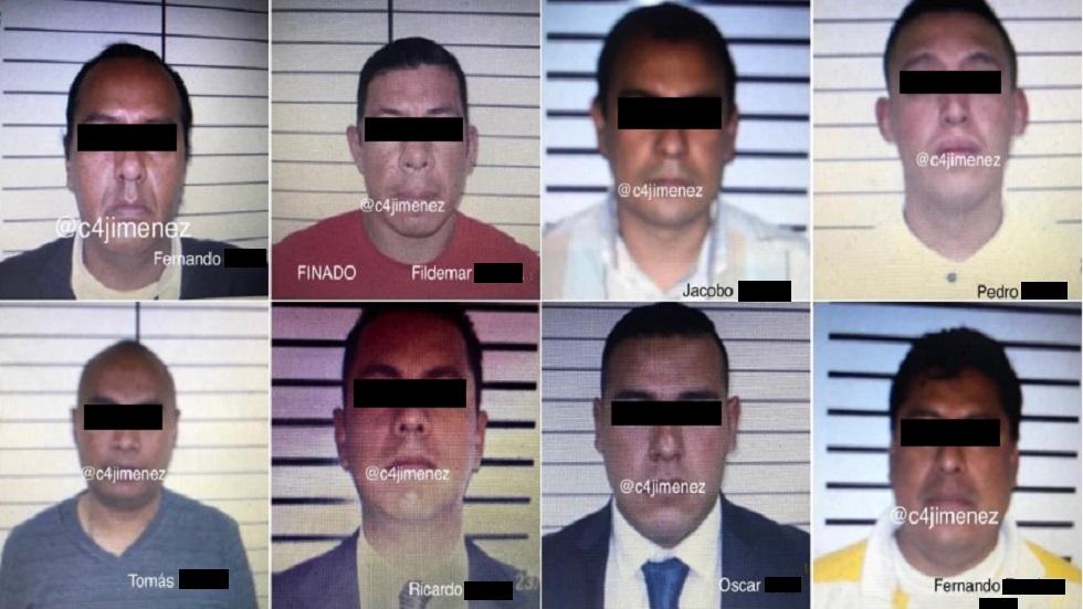 Investigan a policías capitalinos por presunta extorsión a vendedores de droga - Policías sometidos a investigación y el elemento que murió. Foto de C4NoticiasMx
