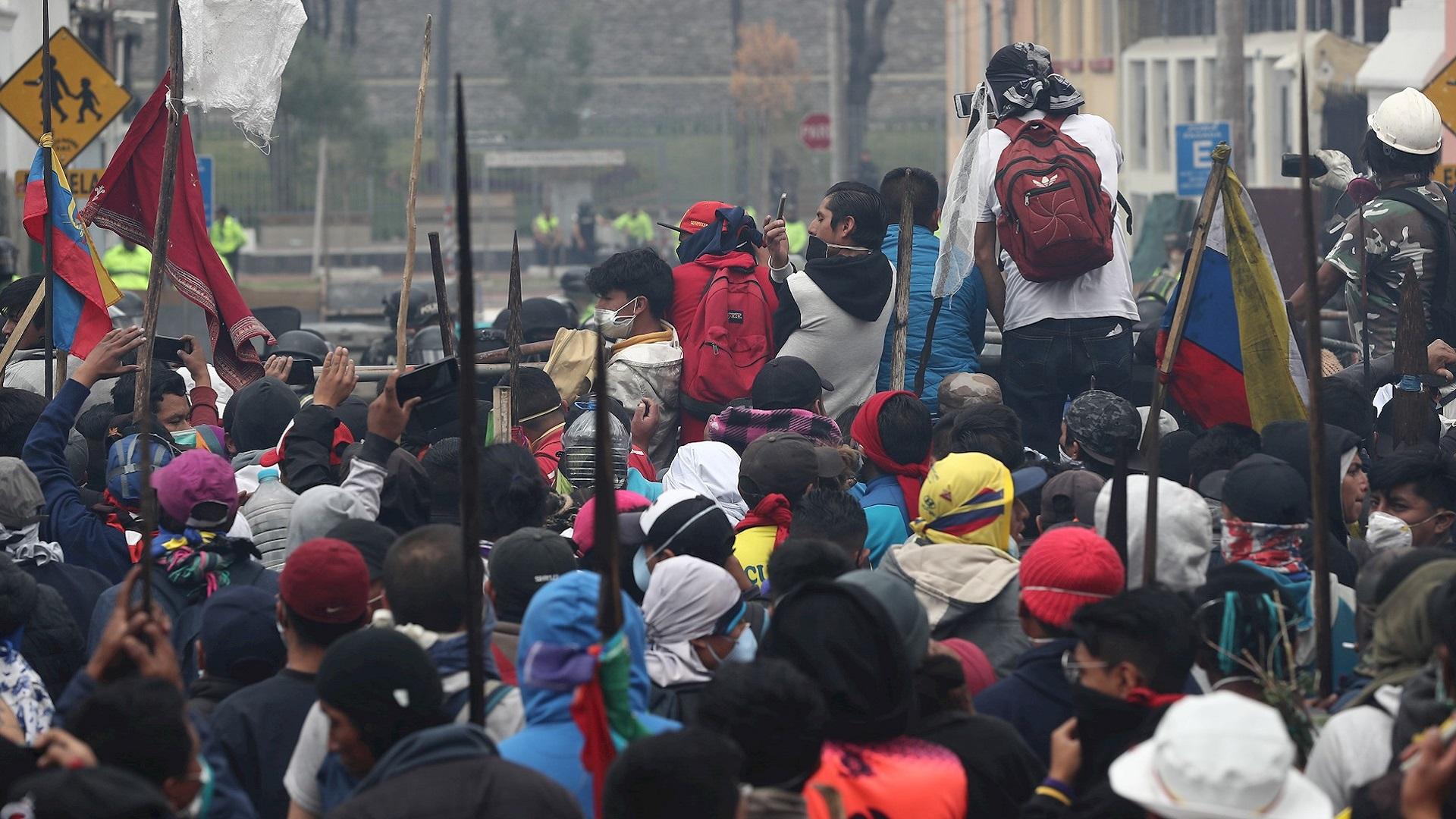 Protestas en Ecuador. Foto de EFE