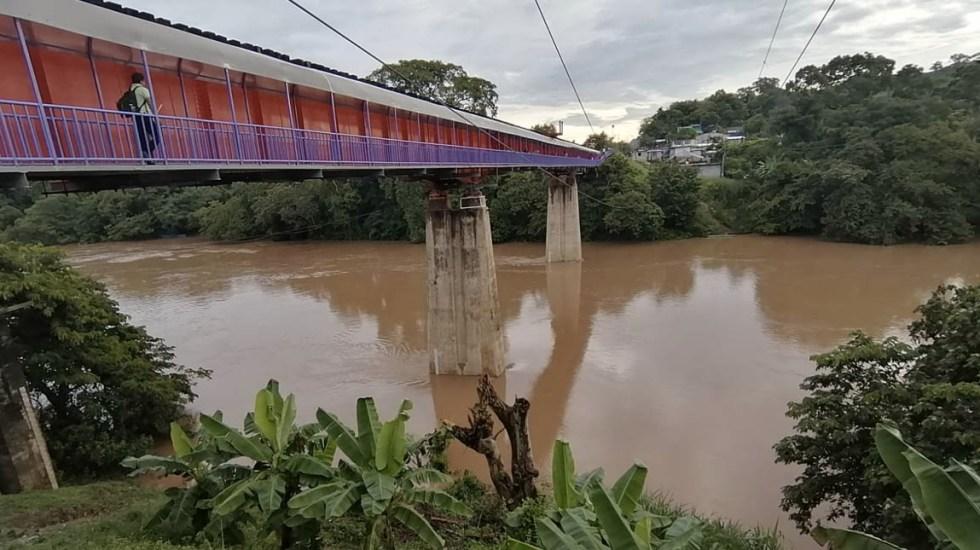 Alertan por crecimiento del río Tulijá en Chiapas por lluvias - río Tulijá en Chiapas