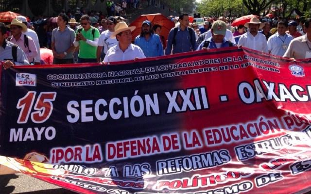 Sección 22 de la CNTE pide la democratización del SNTE - Sección 22 de la CNTE