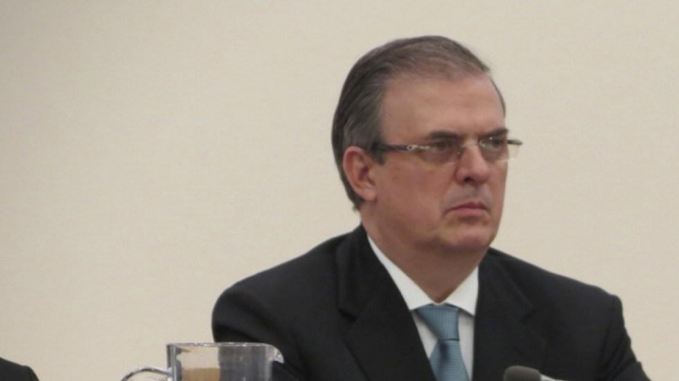 Envían condolencias a Marcelo Ebrard por muerte de su padre - Canciller Marcelo Ebrard. Foto de Notimex