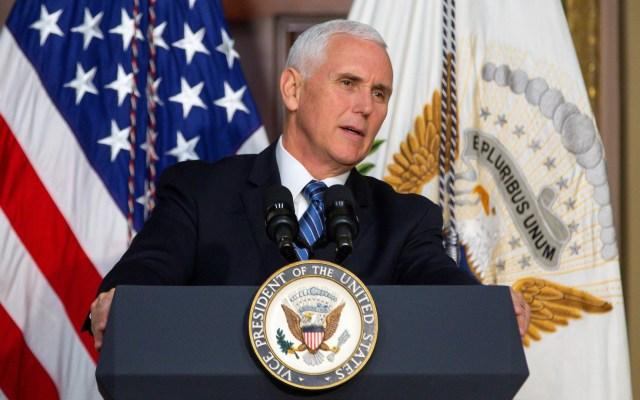 Mike Pence viajará a Turquía para negociar cese de ofensiva en Siria - Vicepresidente de Estados Unidos, Mike Pence. Foto de EFE