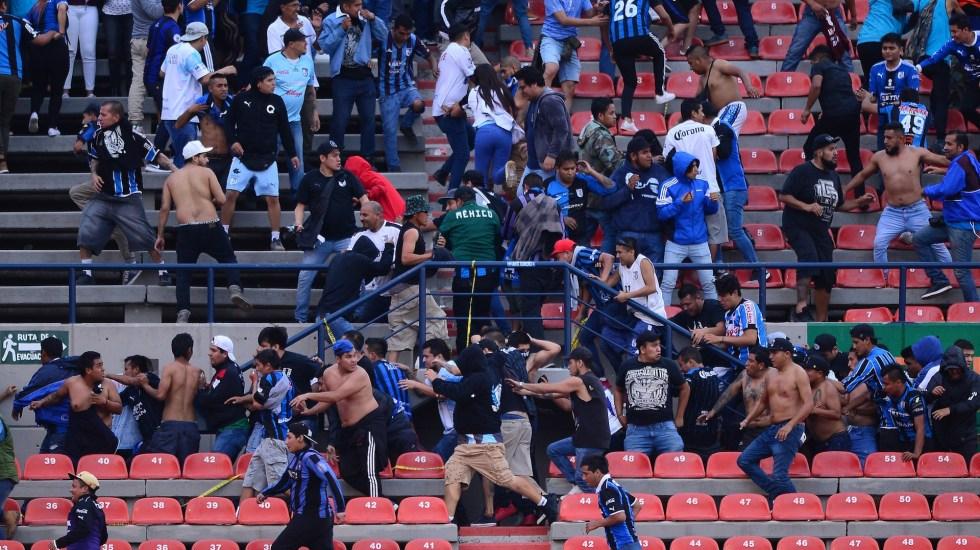 Querétaro gana al San Luis en partido suspendido por invasión de la cancha - Foto de Mexsport.