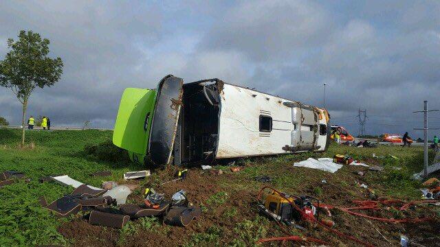 Accidente de autobús en Francia deja 33 personas heridas - Accidente de autobús en Francia. Foto de @Gendarmerie_80