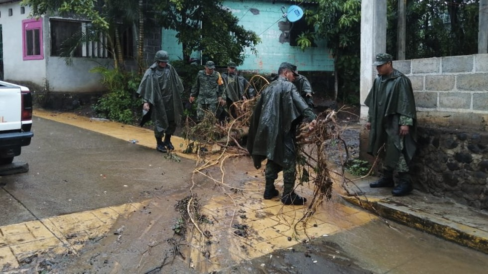 Lluvias provocan severas afectaciones en Veracruz - Foto de Twitter Sedena