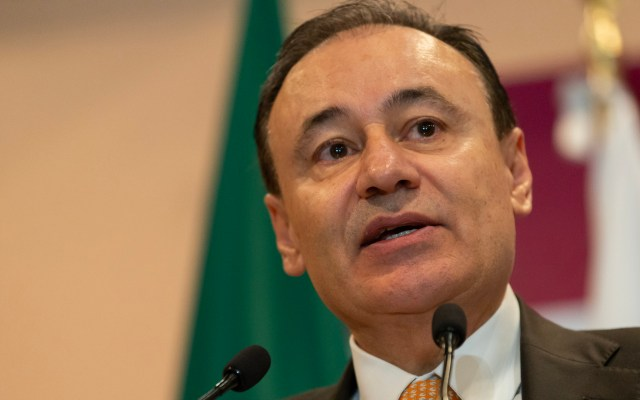 Alfonso Durazo confirma interés en buscar gubernatura de Sonora para 2021 - El Secretario de Seguridad y Protección Ciudadana, Alfonso Durazo, en la Segunda conferencia de Seguridad Nacional. Foto de Notimex-Gerardo Luna.