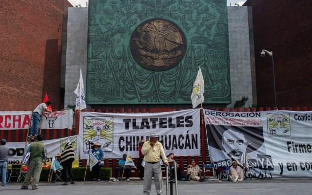 Campesinos toman accesos a San Lázaro por cuarto día - Bloqueo en San Lázaro. Foto de Archivo / Notimex
