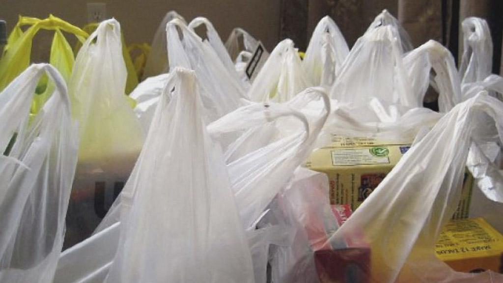 Bolsas de plástico. Foto especial