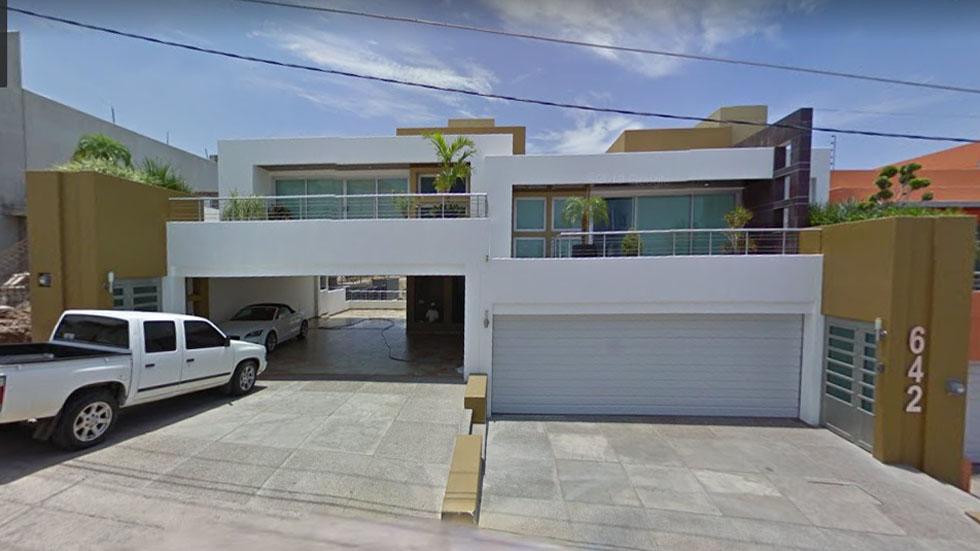 Subastan en Los Pinos casas y autos de lujo del 'Chapo' Guzmán - Casa del Chapo Guzmán en San Miguel, Culiacán. Captura de pantalla / Google Maps