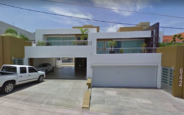 AMLO busca recuperar bienes confiscados a narcos y exfuncionarios en EE.UU. - Casa del Chapo Guzmán en San Miguel, Culiacán. Captura de pantalla / Google Maps