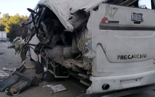 Choque deja un peregrino muerto en la autopista México-Puebla - Choque en la autopista México-Puebla deja un muerto
