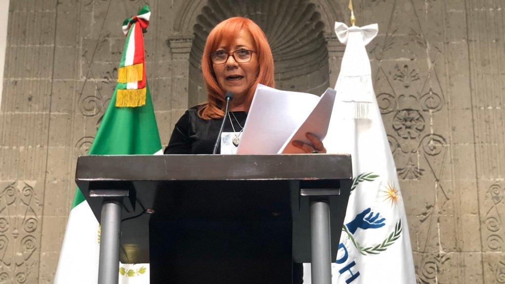Mi elección fue totalmente totalmente legal, asegura Rosario Piedra - Rosario Piedra Ibarra, presidenta de la Comisión Nacional de Derechos Humanos (CNDH), en su primer mensaje a medios de comunicación. Foto de @CNDH