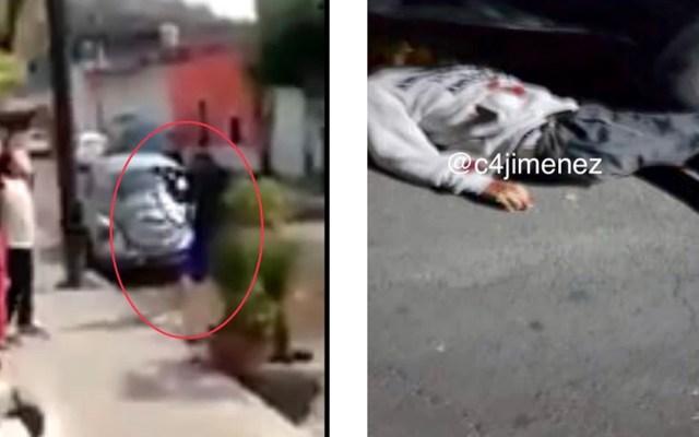 Asesinan a hombre que amenazó a mujeres con arma larga en Azcapotzalco - Asesinan a El Chimino