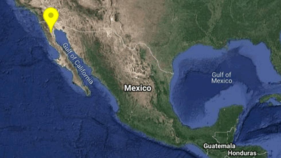 Sismo de magnitud 4.2 despierta a Baja California - Epicentro de sismo 4.2 en San Felipe. Foto de @SismologicoMX