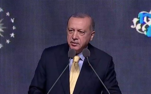 Erdogan anuncia captura de esposa de Al Bagdadi - Erdogan en anuncio de captura de esposa de Al Bagdadi. Foto de NTV
