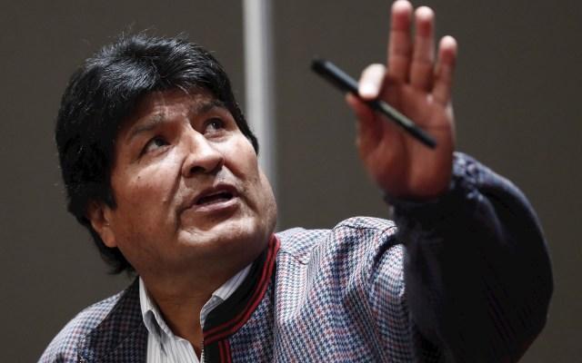 Evo Morales volverá a México, asegura Alejandro Encinas - El expresidente de Bolivia, asilado en México, Evo Morales, habla el 20 de noviembre de 2019 en Ciudad de México. EFE/José Méndez