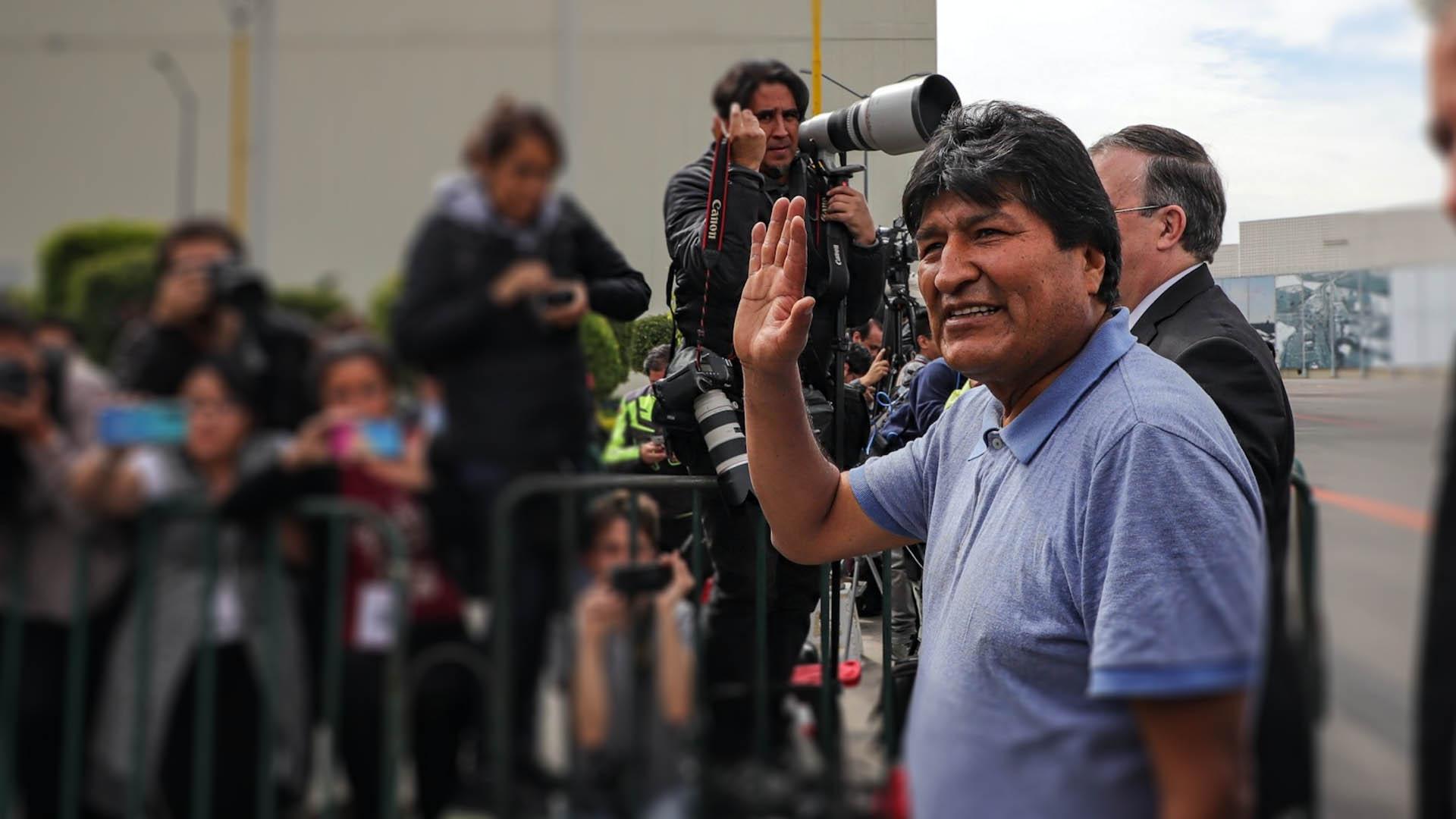 Evo Morales llegada México